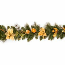 Gold Theme Christmas Garland
